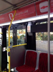 Austin Metro Rapid bus wayfinding signs
