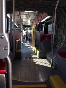 Inside the 801 Metro Rapid Bus